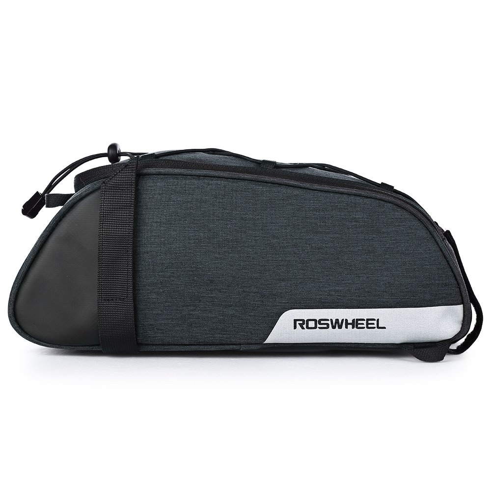 Roswheel Multi-Functional Cycling Bicycle Bike Rear Seat Commuter Trunk Bag Water Resistant Convertible Bike Rear Rack Bag with Adjustable Hooks, Carrying Handle, 7L Capacity