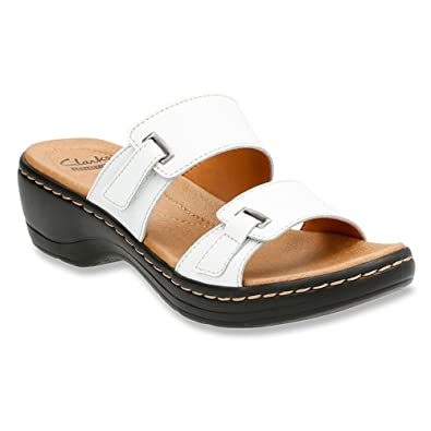 Buy Authentic Clarks Women's Hayla Samoa Womens Black Leather Clarks Womens Sandals
