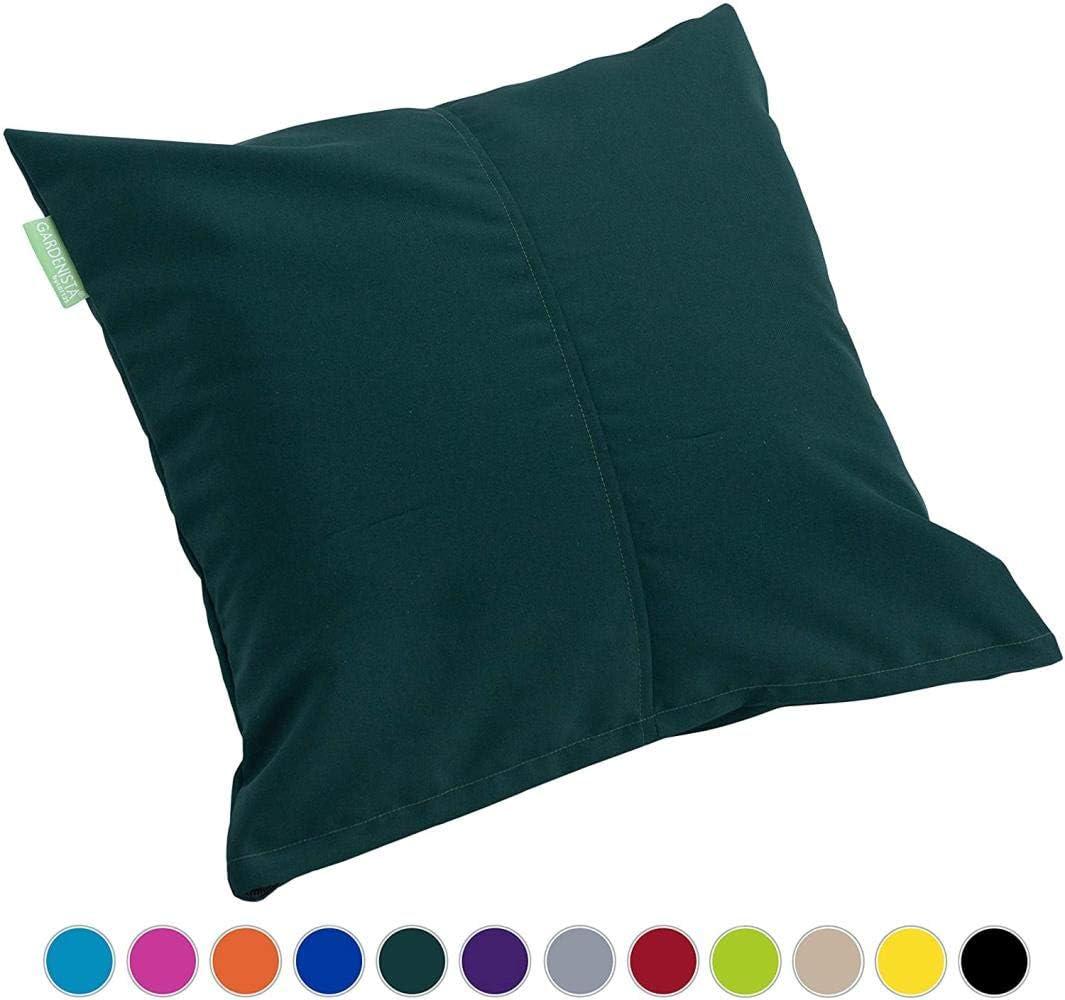 Sgualie Relleno ImpermeableAlmohada Decorativamigajas deEspuma Relleno para Muebles de jardínCojín de Exterior de 45 cm x 45 cm |Cómodo y Decorativo, Verde