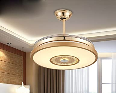 Moderno minimalista lámpara led ventilador invisible, con luces ...