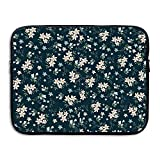 D-MUSE Florals Pattern Computer Storage Bag Portable Waterproof Neoprene Laptop Sleeve Bag Zipper Pocket Cover 13 Inch For MacBook Pro, MacBook Air, Notebook