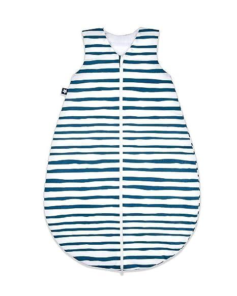 Julius Zöllner Blue Stripes - Saco de dormir de verano (70 cm)
