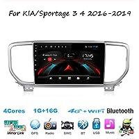 Android Car Stereo Radio Sat Nav Double DIN para KIA/Sportage 3 4 2016-2019 Navegación GPS Pantalla táctil de 9 Pulgadas…