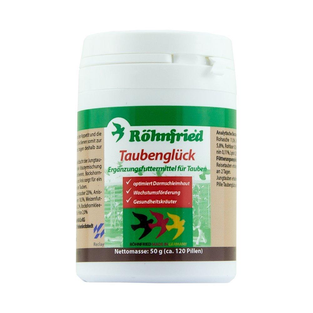 Röhnfried Taubenglück-Pillen - regt den Appetit an und fördert die Verdauung bei Tauben