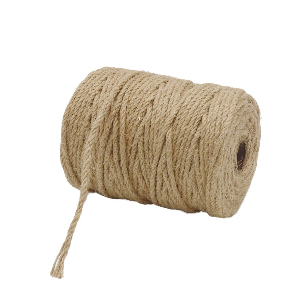 Vivifying 165 Feet 4mm 4 Ply Jute Twine, Natural Biodegradable Strong Jute Rope for Garden, Gifts, Crafts (Brown) by Vivifying