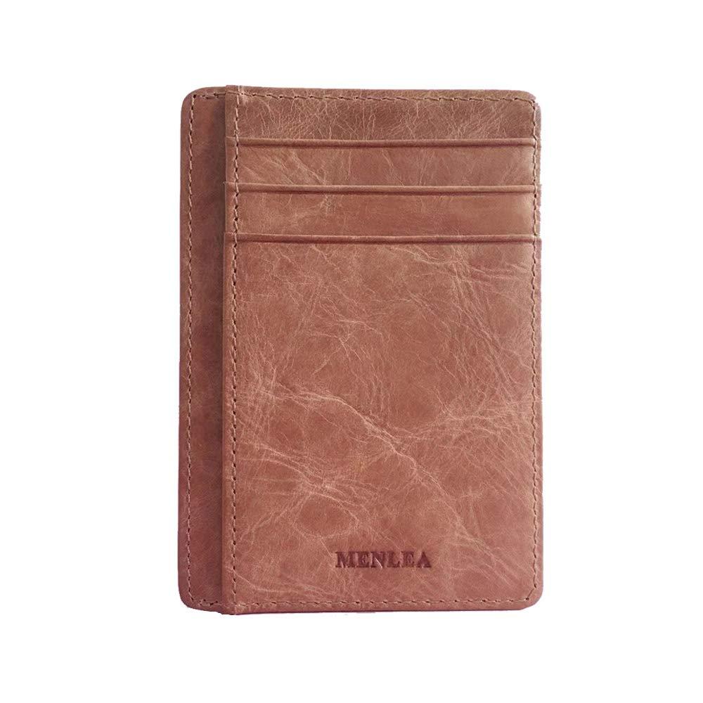 Menlea Slim wallet card holder Front Pocket RFID Blocking Leather Minimalist Wallets for Men /& Women Wallets for men