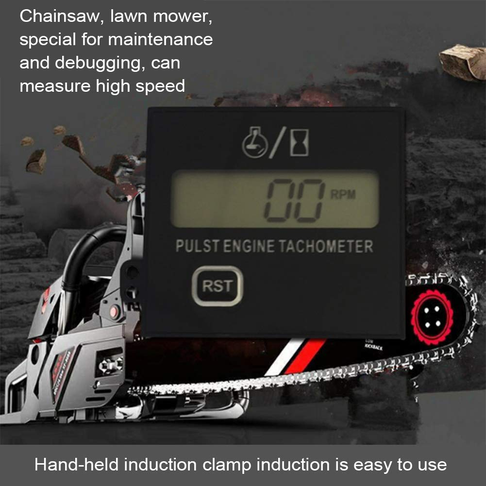 per motosega Contatore di velocit/à digitale per moto NZNNXN tachimetro contatore di velocit/à tosaerba misuratore di carburante schermo LCD motore a benzina tachimetro