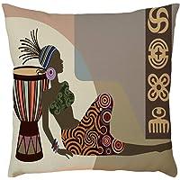 Wogo Pillow Covers Woman Flax Pillowcase Pillow Case Cushion Cover Sofa Home Car Decor 45x45cm