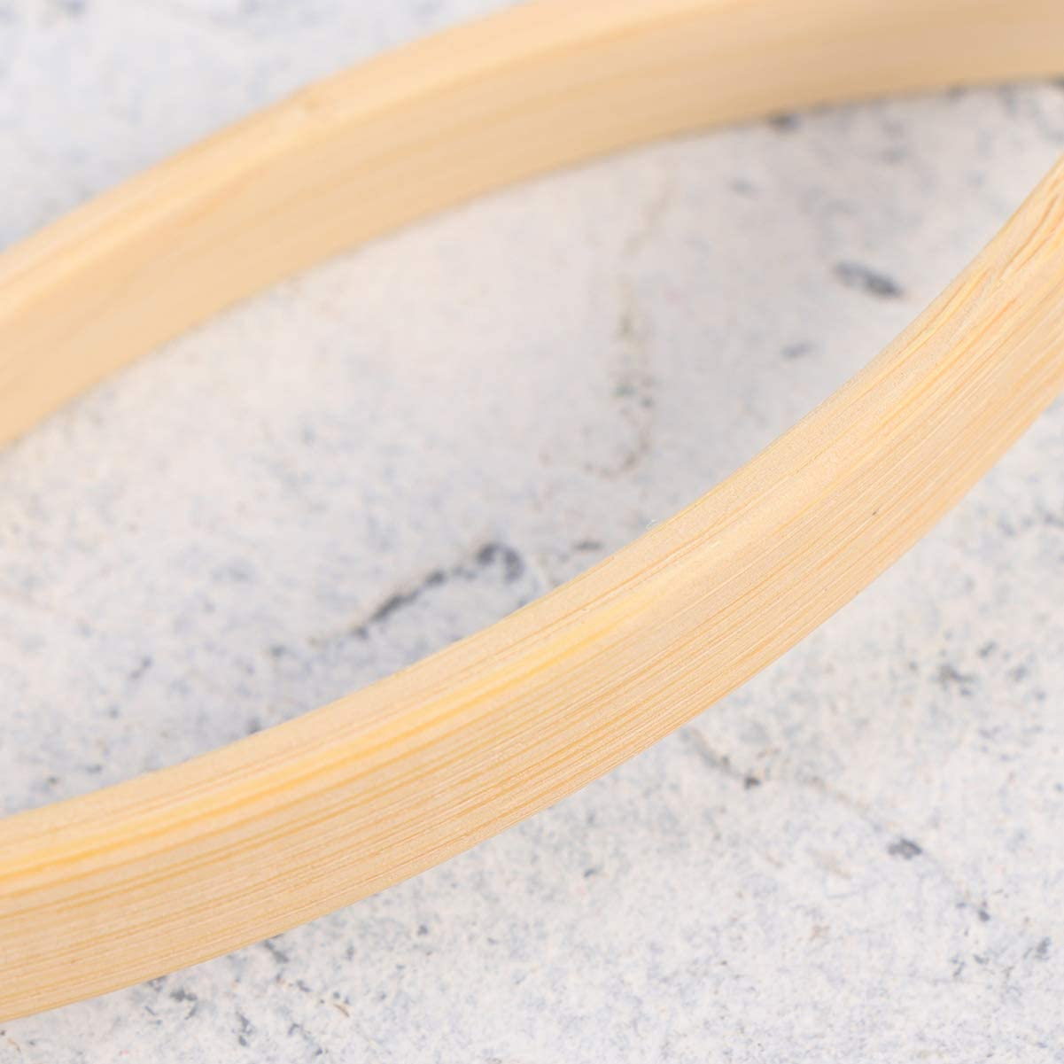 HEALLILY Dream Catcher Ring Bamboo Hoops Wooden Ring Circles for DIY Craft Dream Catcher Making Accessaries 15cm 2Pcs