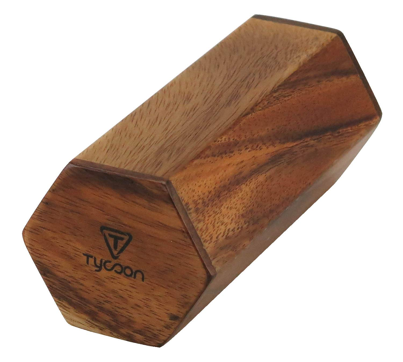 Tycoon Percussion TWHS-6 6 Hex, Jam Shaker, Jamjuree Wood