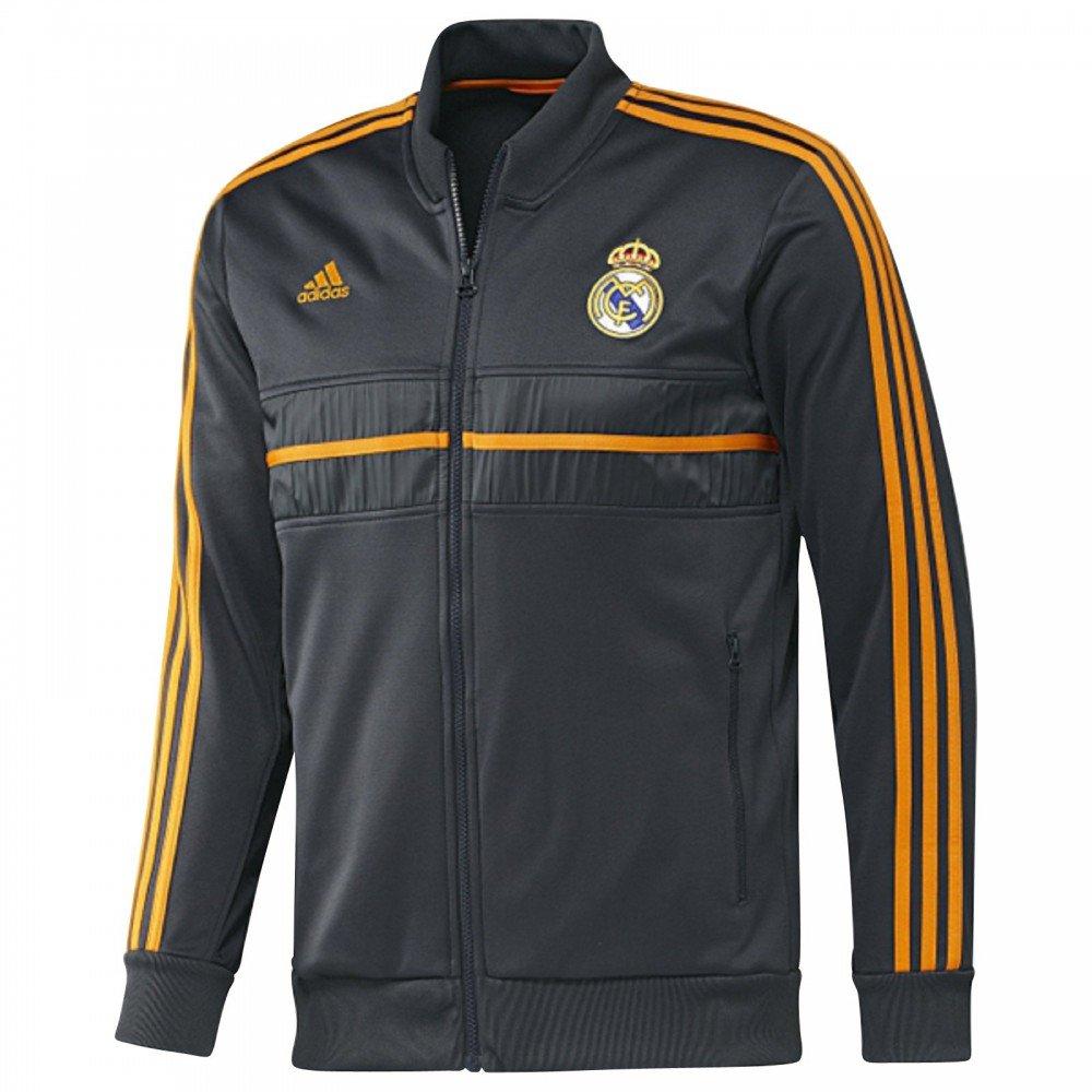 2013-14 Real Madrid Adidas Anthem Jacket (schwarz-Orange)