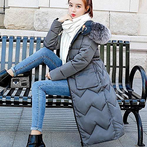 Chaud coloré Épais À L Capuche Pour Armée Duvet Verte Oudan Parka D'hiver Manteau Gris En Et Femmes Long Taille 50Ffx