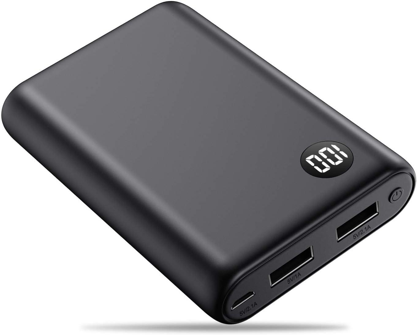 kilponen Power Bank 13800mAh Batería Externa Cargador Móvil Portátil Ultra Compacto 2 Salidas USB con Ultra Alta Capacidad para Huawei,Xiaomi Smartphones/Tablets Android y Más