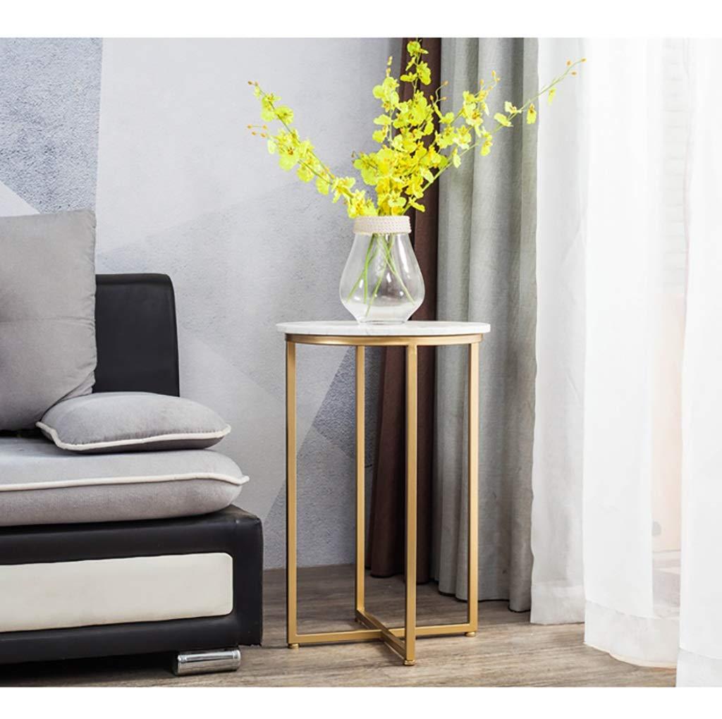 Mesas de centro Mesa redonda de metal - mesa auxiliar simple ...