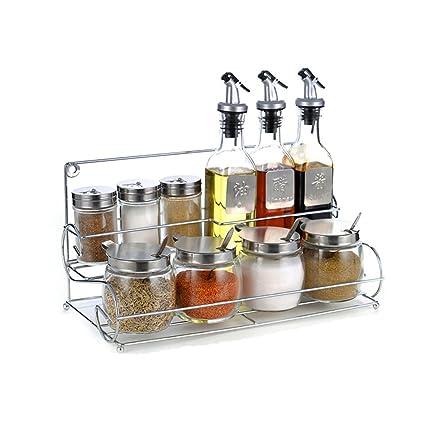 Aceitera y vinagrera Cocina Vidrio Caja de condimento Aceite ...