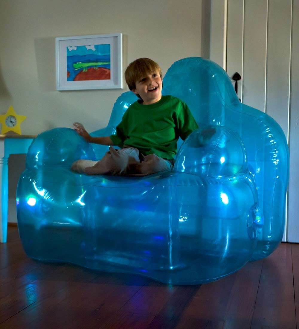 Amazon.com: Light-Up Inflatable Blue Aurora Blow Up Lounge Chair ...