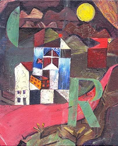 Paul Klee Villas Florentines Giclee Print Reproduction Painting Large Size Canvas Paper Wall Art Poster Ready to Hang Framed Print