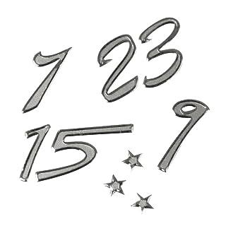 RAYHER 3366222klebeschrift: Calendario dell' Avvento Numeri, 1cm, Arco 10X 24,5