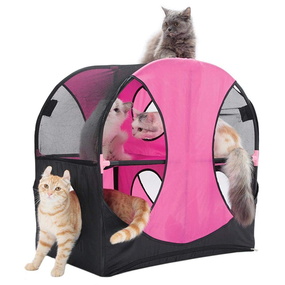 Axiba Árbol para Gatos Gato túnel Oxford Tela Gato Nido Ferris Rueda Gato Plataforma 66 * 66 * 43 CM plástico ABS + PVC + Poliester Tela: Amazon.es: ...