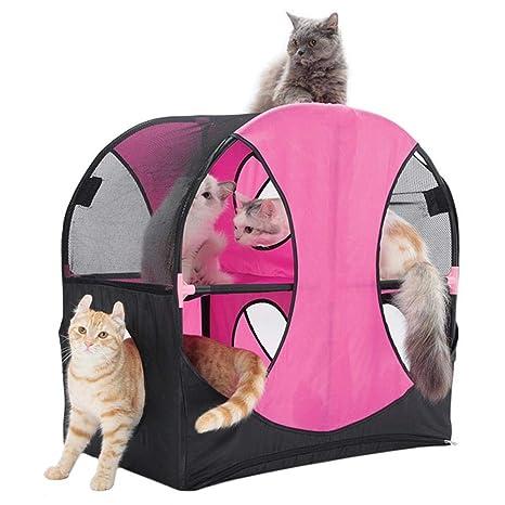 Axiba Árbol para Gatos Gato túnel Oxford Tela Gato Nido Ferris Rueda Gato Plataforma 66 *