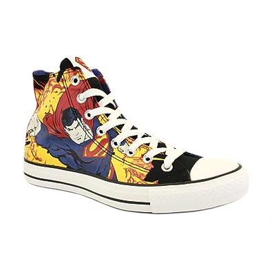 b9eb93a725ad Converse Chuck Taylor DC Comics Superman 136632C Unisex Laced Canvas  Trainers Black Blue - 3  Amazon.co.uk  Shoes   Bags