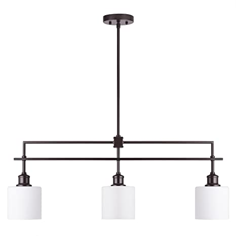 CO-Z Oil Rubbed Bronze Kitchen Island Lighting, 3-Light Linear ...