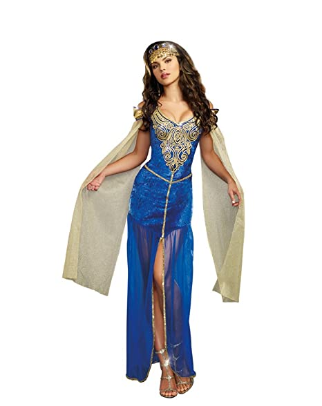 Amazon.com: Dreamgirl Medieval disfraz de belleza, M, Azul ...