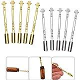 Luckycivia 10 Pcs Snuff Spoon Mini Shovel Medicine Spoon, Tableware Charm, Home Supplies Pendants Necklace (Gold, Silver…