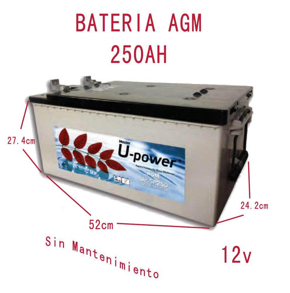 Batterie Solar AGM zyklenfest 250Ah 12V Solar Photovoltaik