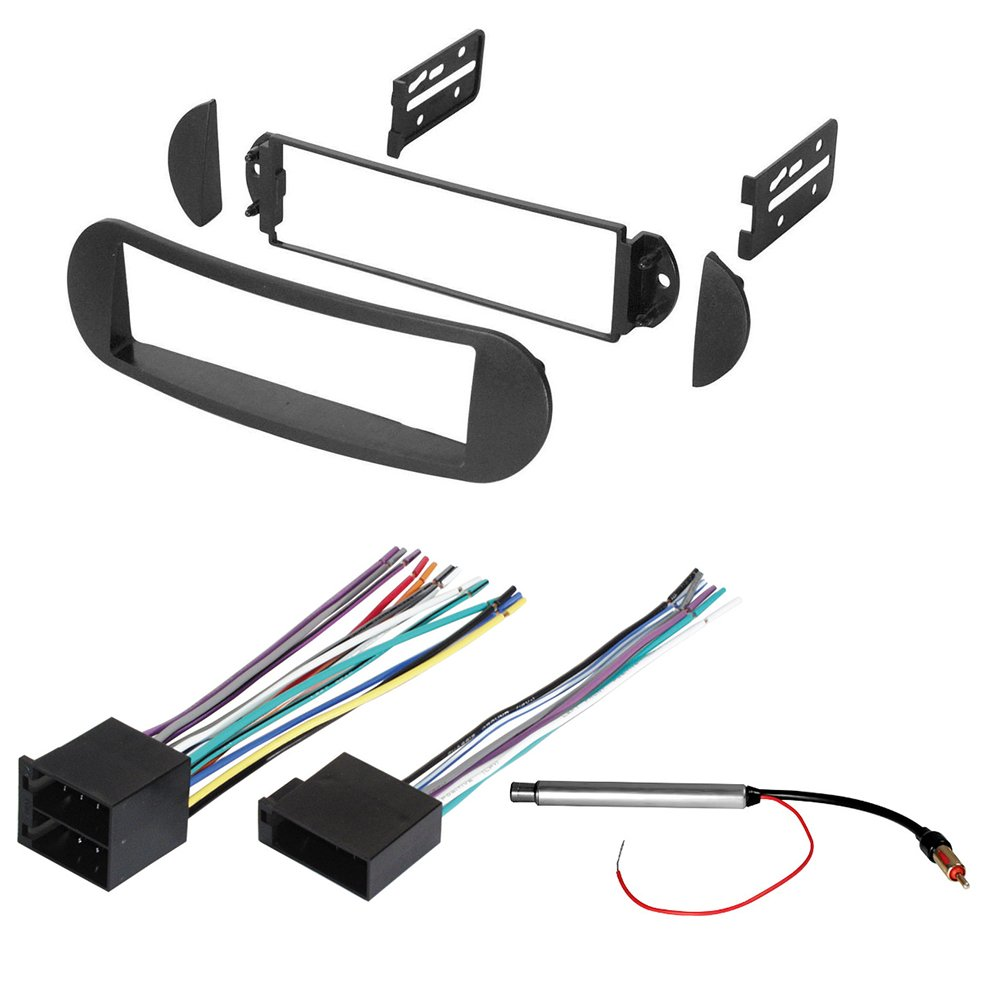 Amazon.com: CAR STEREO RADIO DASH INSTALLATION MOUNTING KIT W/ WIRING  HARNESS AND RADIO ANTENNA ADAPTER FOR SELECT VOLKSWAGEN BEETLE VEHICLES: Car  ...