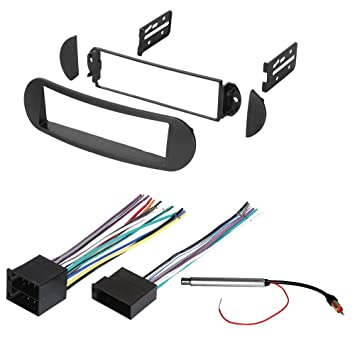 61vYQr eNkL._SY355_ amazon com car stereo radio dash installation mounting kit w car stereo wiring harness kit at mifinder.co