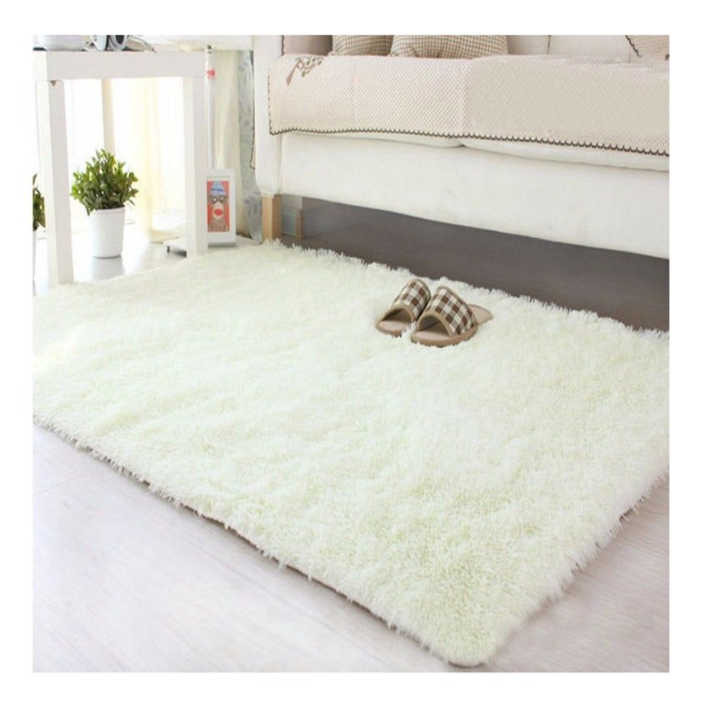 Anti-Skid Shaggy Area Rug Rectangular Braided Rug Fluffy Rugs Multi Colors Carpet Floor Mats Best for Baby Child Kids Dining Room Home Bedroom Decoration & Playing
