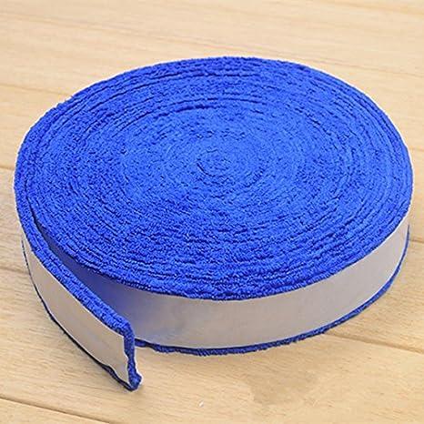 Bluelover 10M Badminton Racket Serviette Grip Sueur Absorbés Coton Anti-Dérapants Raquette De Tennis Grip - Vert