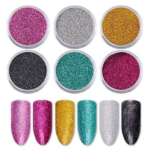 purpurina brillante decoración nailart
