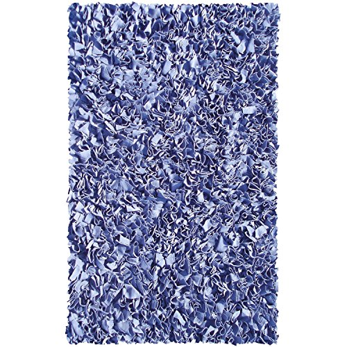 Maison Shaggy Raggy Dark Blue Jersey Cotton Shag Rug ()