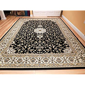 Amazon Com New Traditional Area Rugs 2x3 Black Foyer Rugs