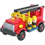 Orange Tree Toys Wooden Fire Engine