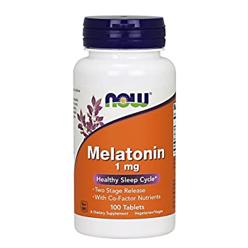 NOW Melatonin 1 mg,100 Tablets