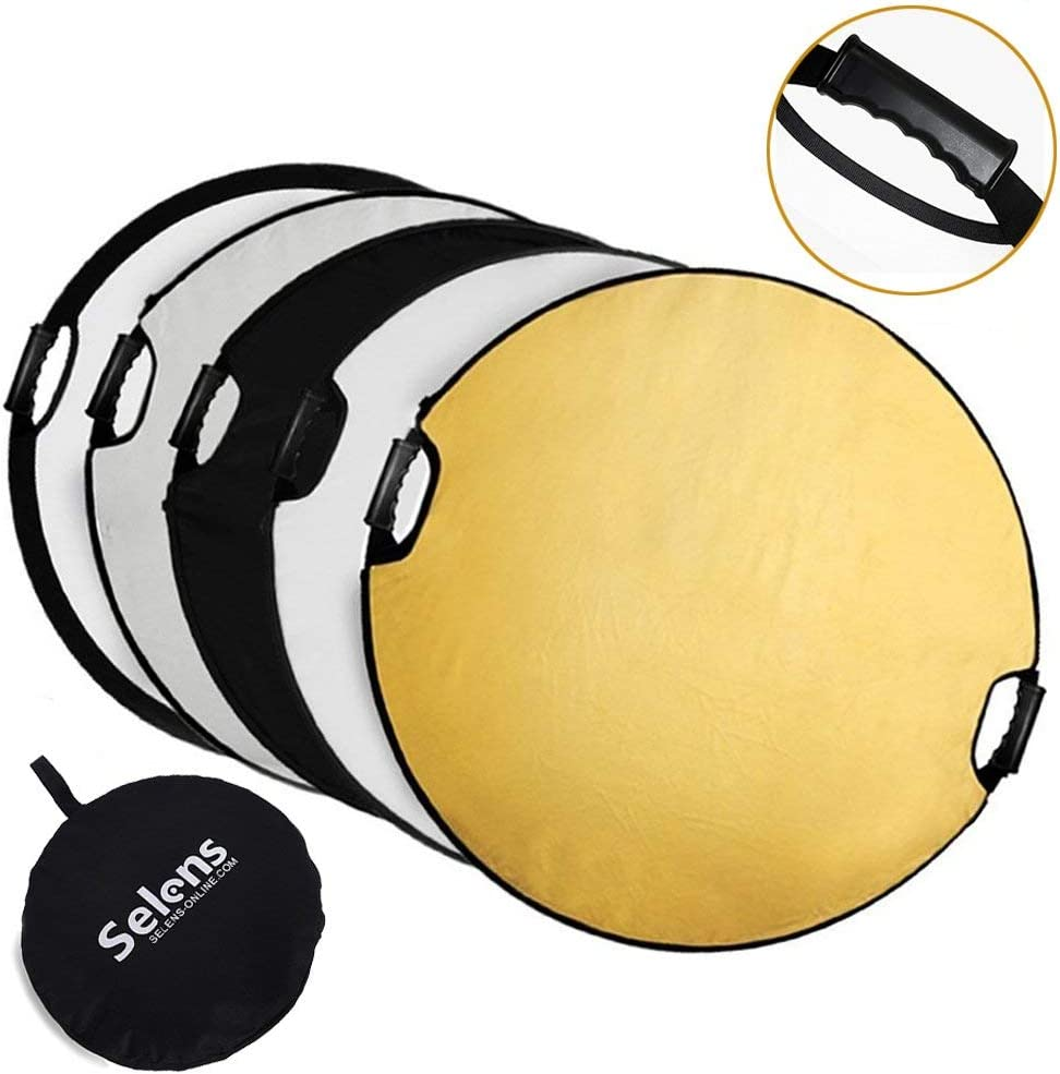 New Portable Multi Disc 43 Photography Reflector 5-in-1 Circular Collapsible