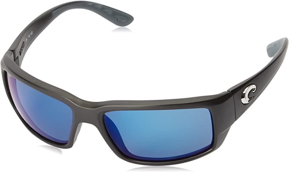 04331c4b2 Amazon.com: Costa Del Mar Fantail Sunglasses, Black, Blue Mirror 580 ...