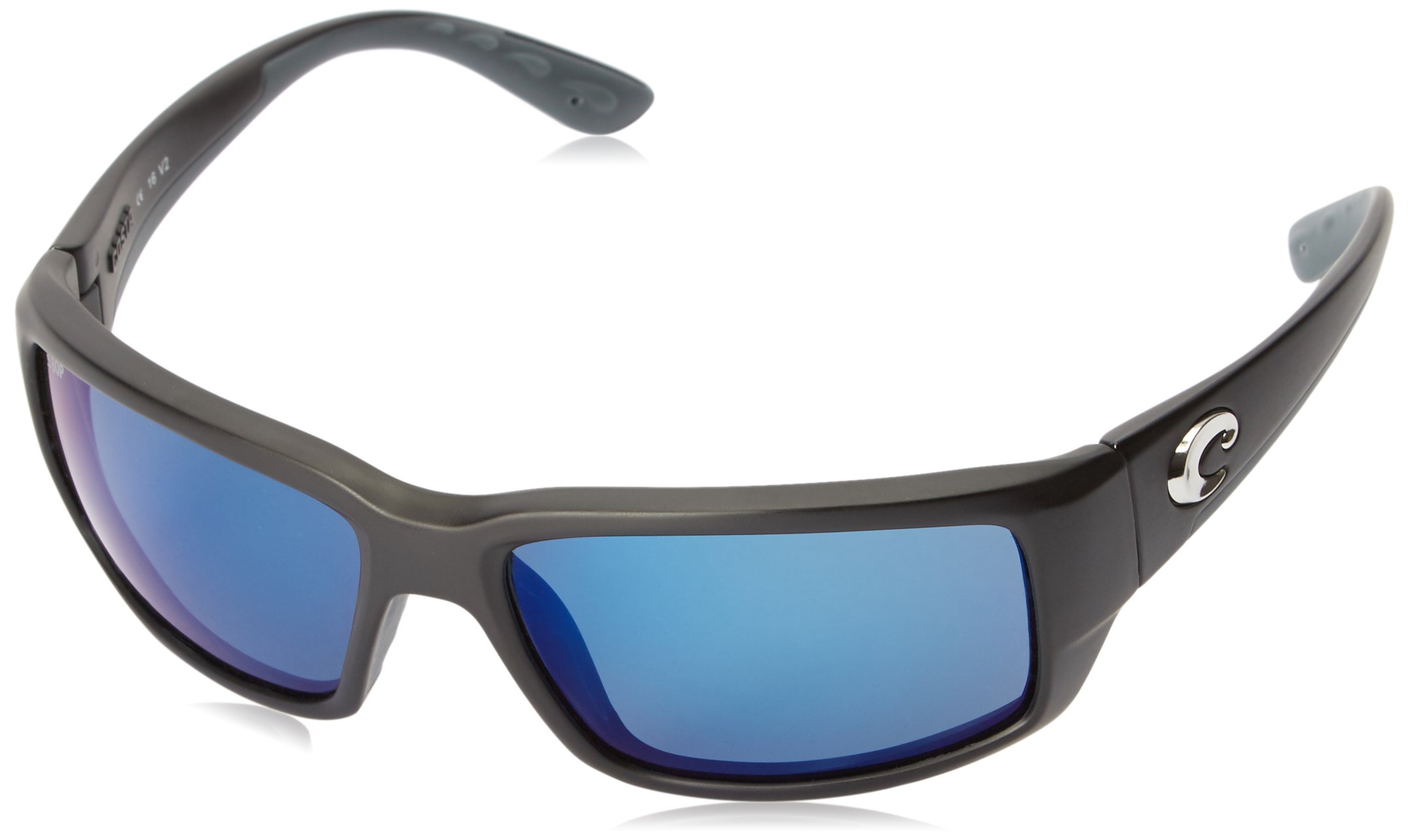 Costa Del Mar Fantail Sunglasses, Black, Blue Mirror 580 Plastic Lens by Costa Del Mar