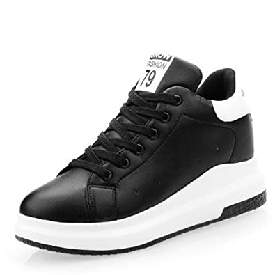 Winter White High Platform Sneakers Women Platform Shoes Warm Leather Casual Shoes Women Tenis Feminino Black