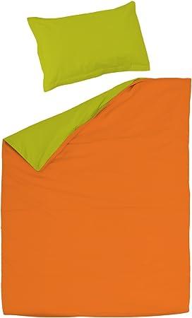 SoulBedroom Orange & Green (Naranja y Verde) Juego de Cama, 100 ...