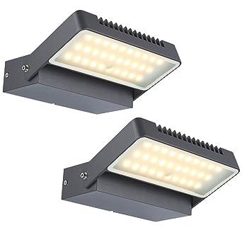 2er Set 6W LED Außen Leuchten Wand Strahler Garten Schein Werfer Fassaden Lampen