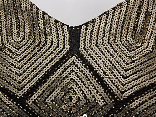 Party Dresses Dress Sequin Flapper Vintage Gold 1920s Vijiv Fringe Black Gatsby Costume wv8f6nqx