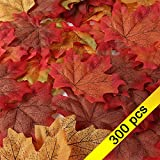 Aszune Artificial Flower Leaf Decoration For Thanksgiving Decorations Table Decor Wedding Decorations Artificial leaves maple decor 300pcs