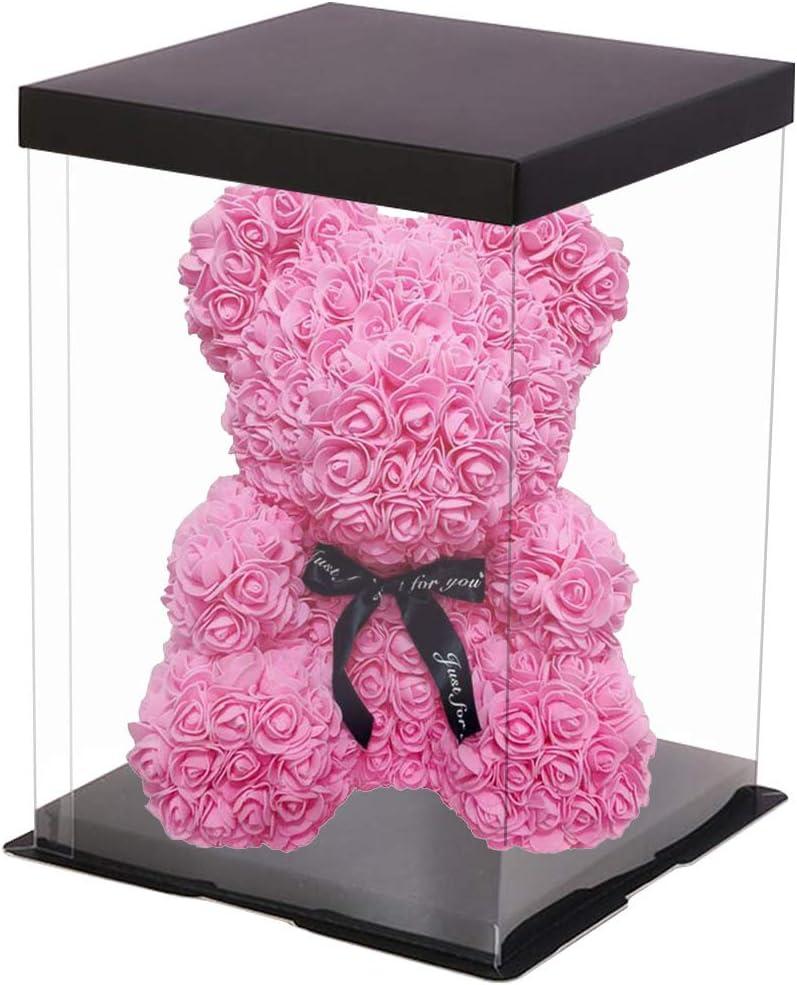 Mariage Cadeau cr/éatif pour Anniversaire LHDDWY Ours en Peluche Rose 40 cm avec bo/îte Cadeau Saint Valentin