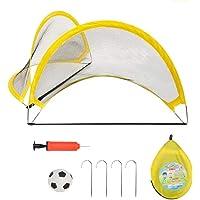 PIETFIU Pop Up Soccer Goal Kids Soccer Net for Backyard, Easy Fold-Up Soccer Training Net with Carrying Bags, children…