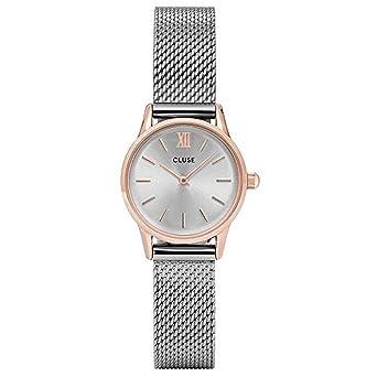 CLUSE Reloj Analógico para Mujer de Cuarzo con Correa en Acero Inoxidable CL50024: Cluse: Amazon.es: Relojes