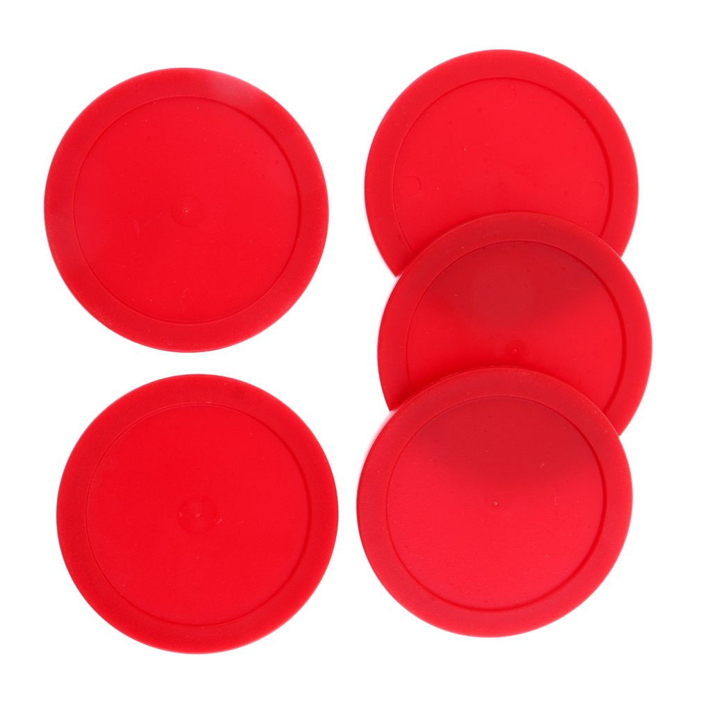 MonkeyJack 62mm Plastic Air Hockey Pucks for Game Tables, Set of 5, Various Colors for Choice - Black, 62mm